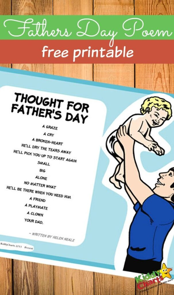 Fathers day poem free printable