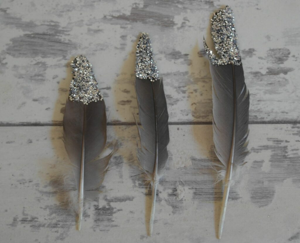 Do your children collect feathers from a day out?  Here is a clever use for them