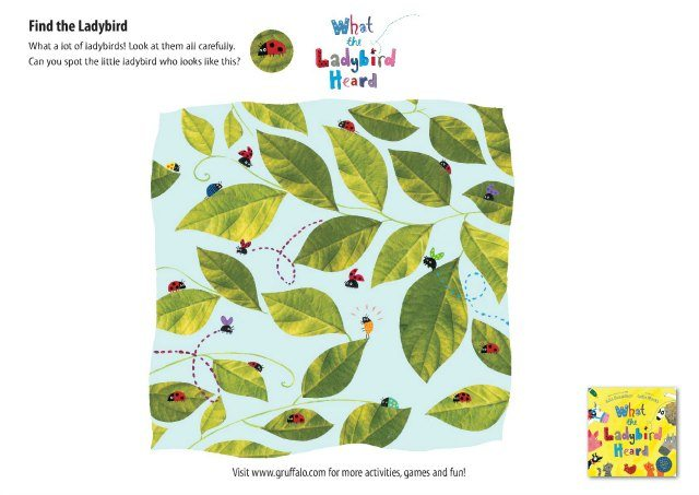 photo relating to Look and Find Printable named Printable What the Ladybird Read actions