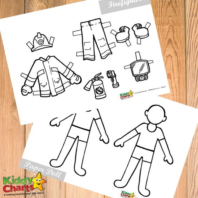 Fireman activity printable for kids