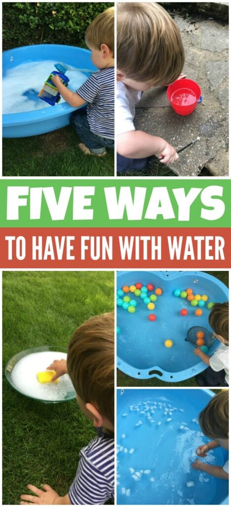 Five ways to have fun with water play for kids.