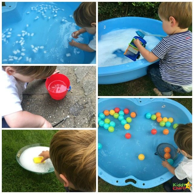 Five ways to have fun with water play