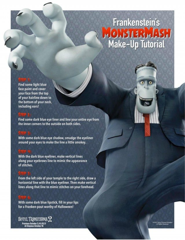 Frankenstein make up tutorial for Halloween