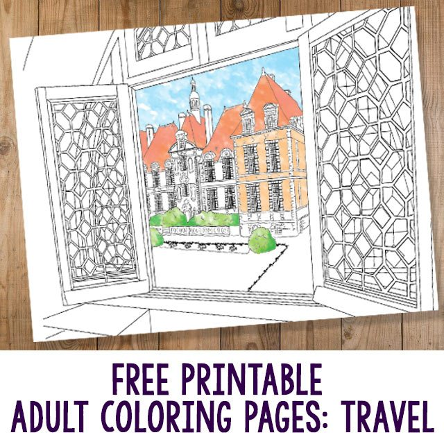 Free Adult Coloring Pages Travel