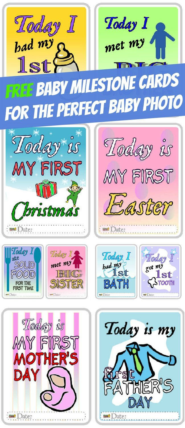 Free Baby Milestone Cards for the Perfect Baby Photo