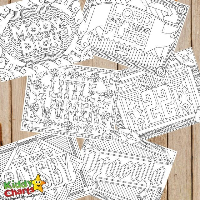 Free Book Inspired Coloring Pages for Adults