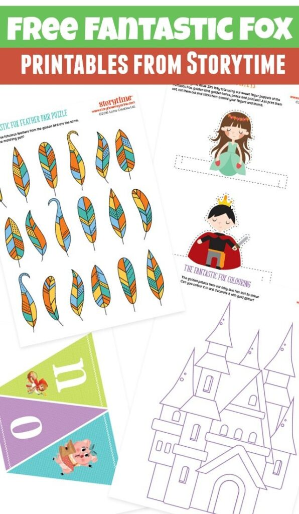 Free Fantastic Fox printables from Storytime
