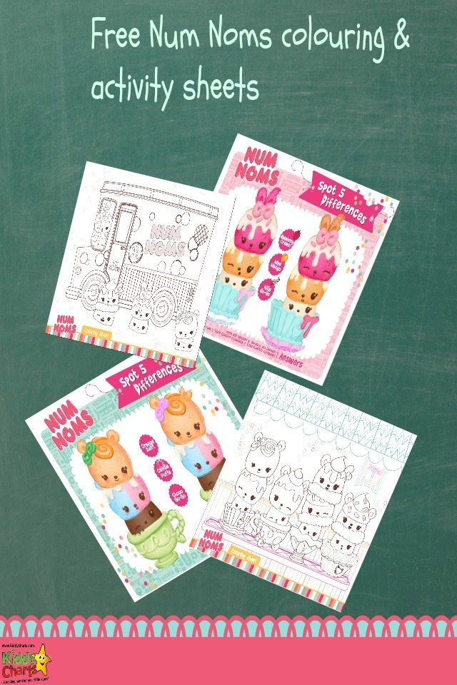 Num noms colouring pages and activity sheets for the kids to play with; we have four in total. Two Num Noms colouring pages, and two spot the difference puzzles. Why not download them now and give them a go?