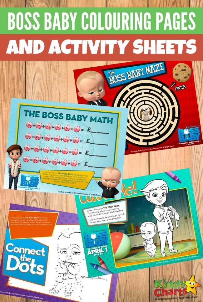 photo about Boss Baby Printable named Manager Youngster colouring web pages and recreation sheets KiddyCharts