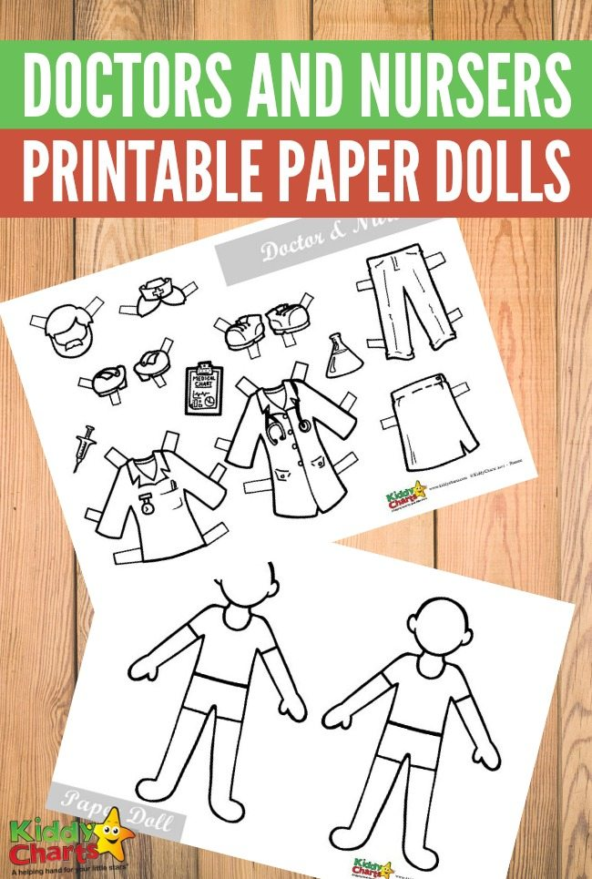 Free Printable Doctors and Nursers Paper Dolls
