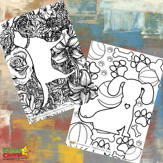 Free Printable Dogs adult colouring Pages and for Kids Too