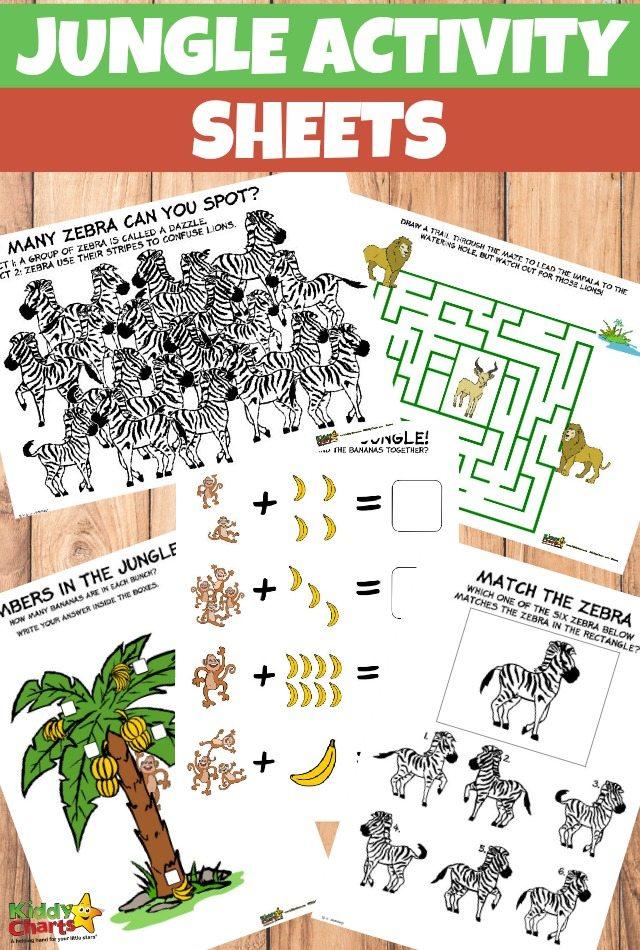 Free Printable Jungle Activity Sheets