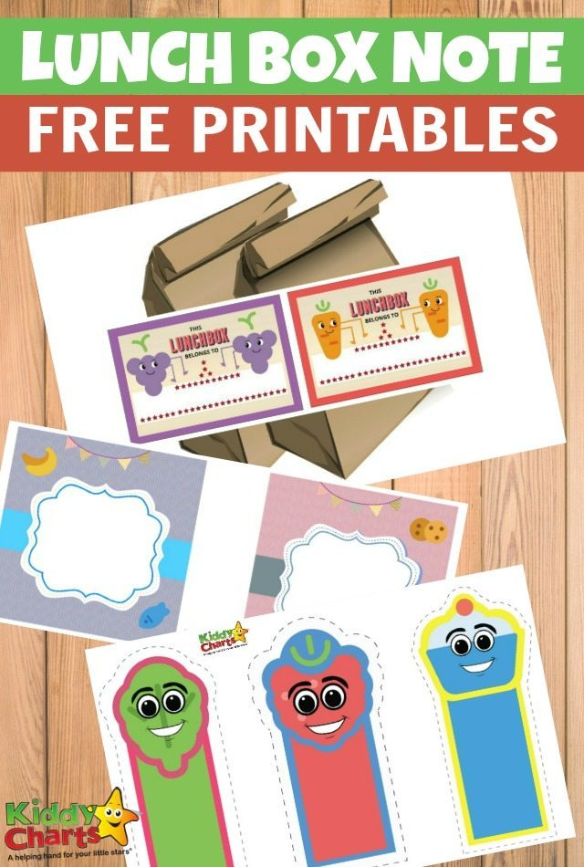 Free Printable Lunch Box Note
