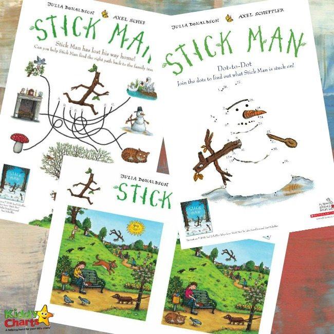 Free Printable Stick Man activities