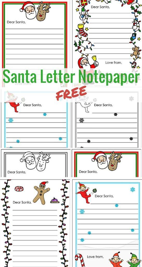 Free Santa letter notepaper