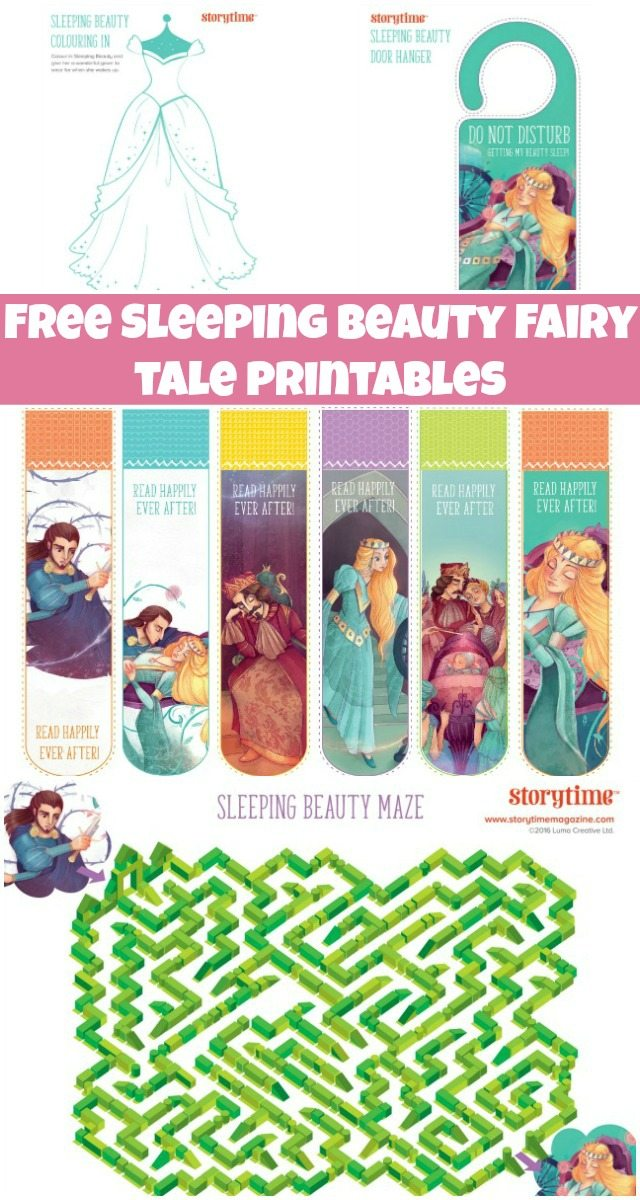 Free Sleeping Beauty Fairy Tale Printables For Kids