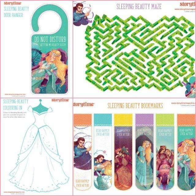 Free Sleeping Beauty fairy tale printables