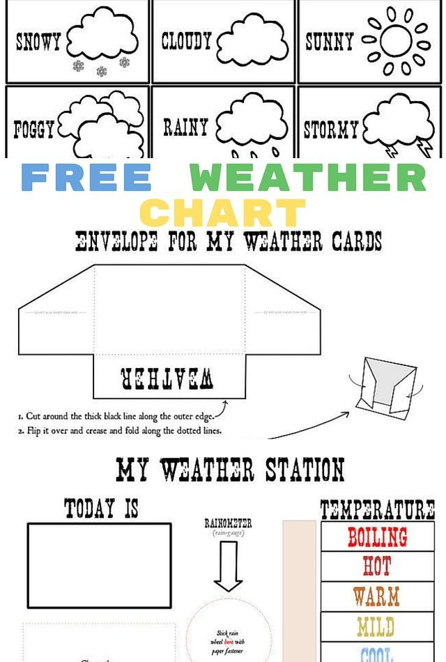 Free Weather Chart Printables For Little Ones