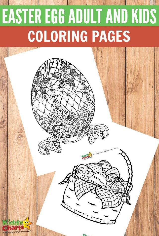Free printable Easter egg adult and kids coloring pages