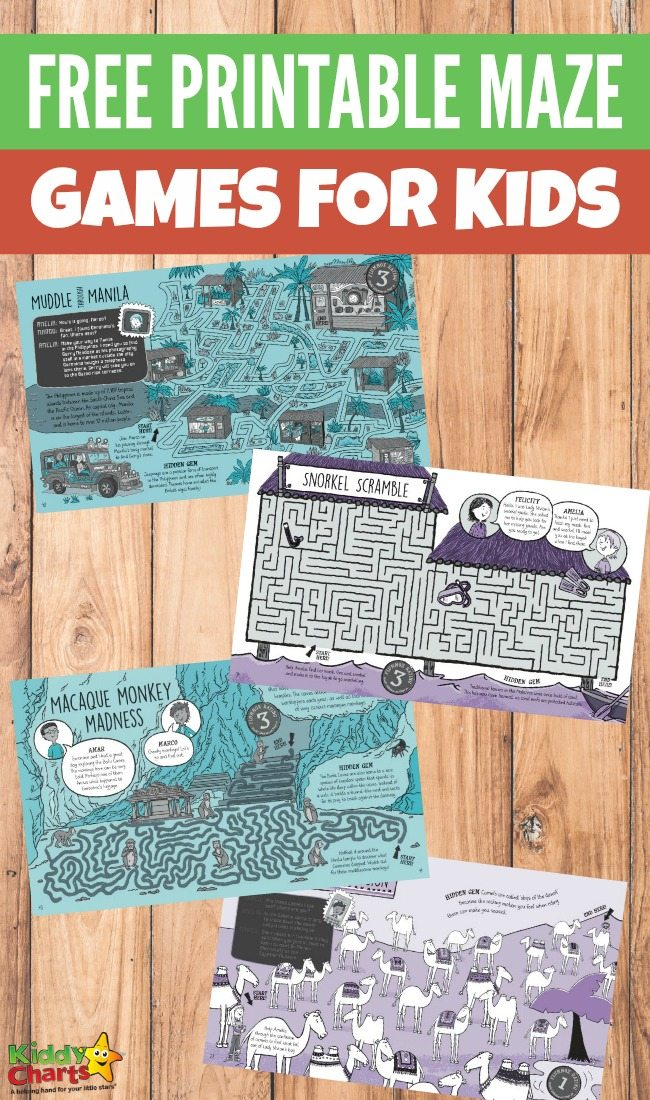 Free printable maze games for kids with Lonely Planet