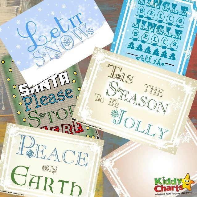 Free printables Christmas posters to brighten your day