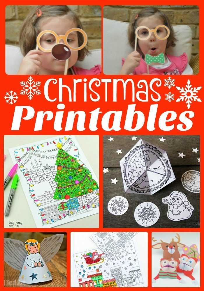 Fun Christmas Printables by Red Ted Art
