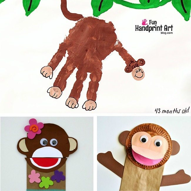 Fun Monkey Crafts to help your kids explore CHinese New Year, as its the Year on the Monkey, and beyond. Paper plates, coloring pages, and games about Monkeys for YOUR little monkeys!