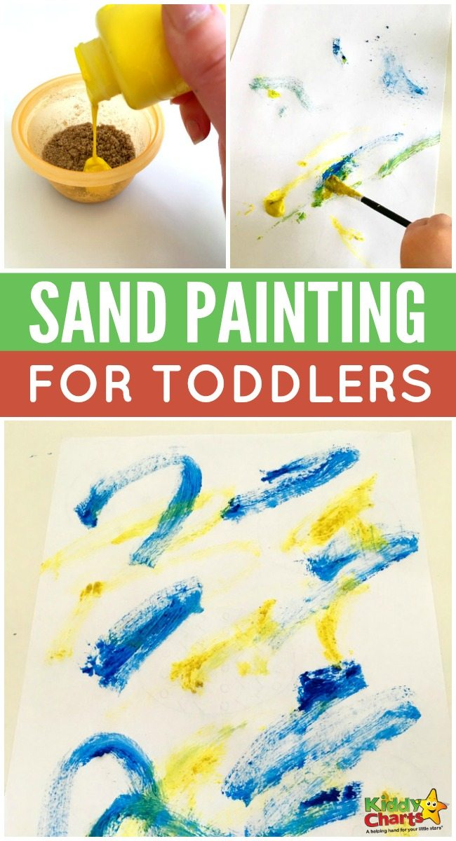Fun sand painting activity for toddlers