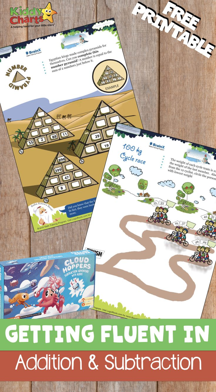 Fluency in mathematics is very important. To be fluent in addition and subtraction, kids need to do a lot of practice. Cloud Hopper board game is great to help kids to be more fluent in addition and subtraction.
