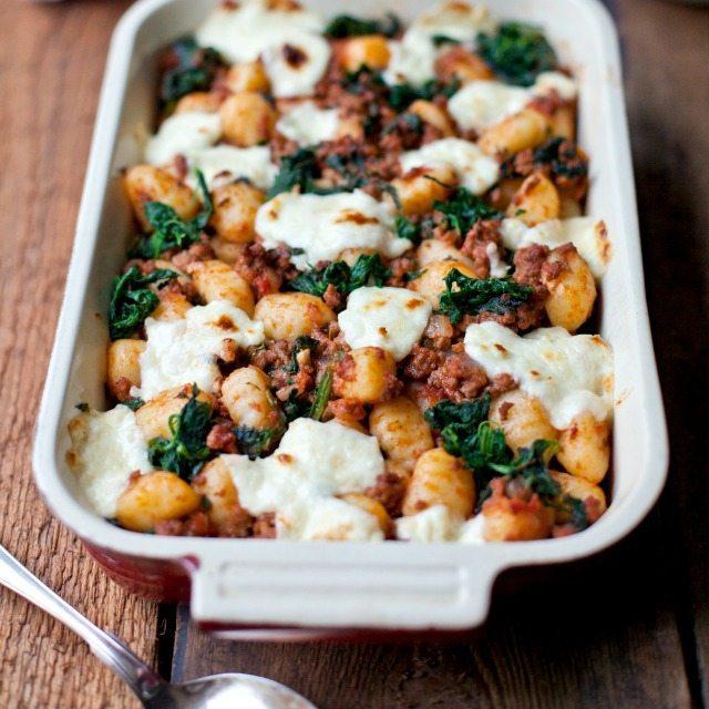 Gnocchi bolognese with spinach and marscapone recipe