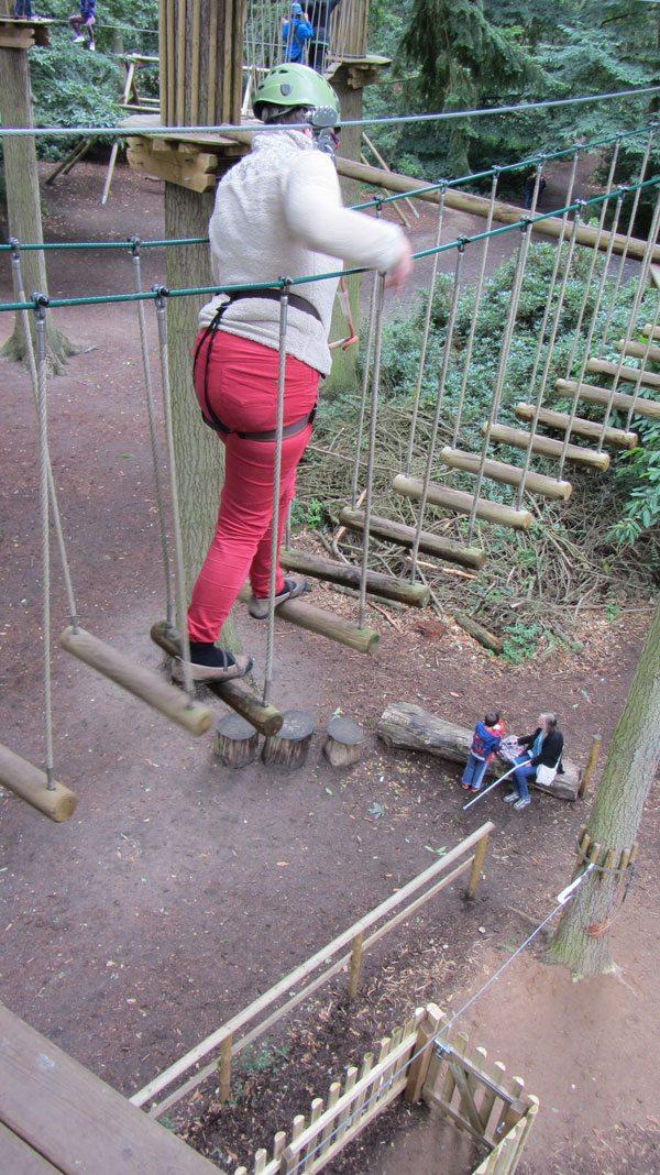 Go Ape Thetford: Swinging