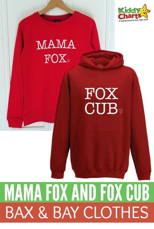 Gorgeous Mama Fox And Fox Cub Bax & Bay Clothes