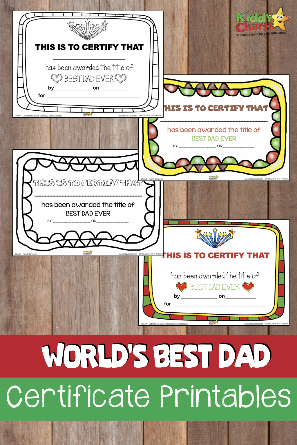 Do you have the World Best Dad - then give him a Fathers Day certificate to prove it! #fathersday #giftsfordad #gifts