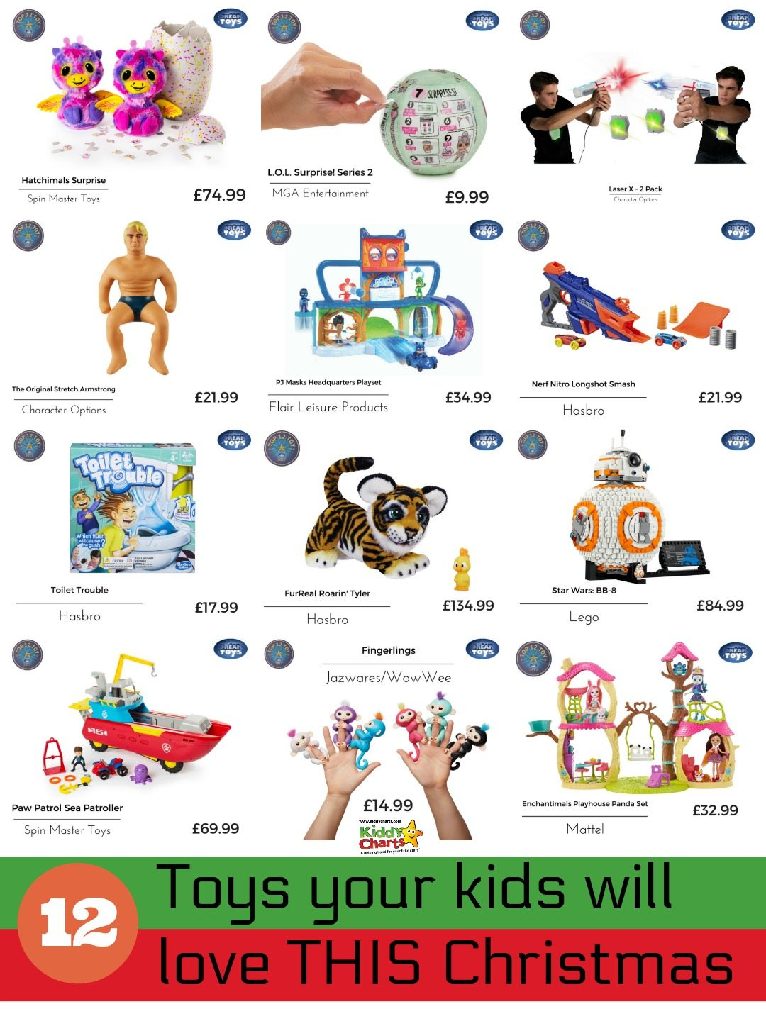 If you are looking for something special for the kids this Christmas then KiddyCharts and Dreamtoys have it for you! 12 of the BEST kids toys to get this Christmas...what could go wrong if one of these ends up under the tree, right?!?! #toys # kids #dreamtoys2017 #christmas #besttoys