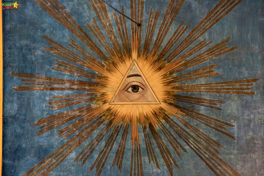 This is the amazing All Seeing Eye in the Ceiling of the Hertgenbosch St Jacques Cathedral - simply stunning.