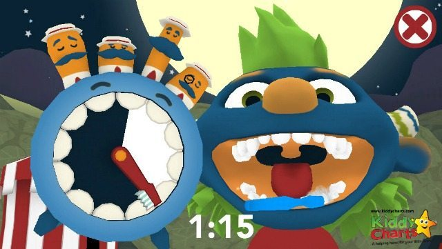Brush those teeth with the Brusheez little monsters! Some great options in this app to help your kids, and its free; with the option to buy extra characters too.