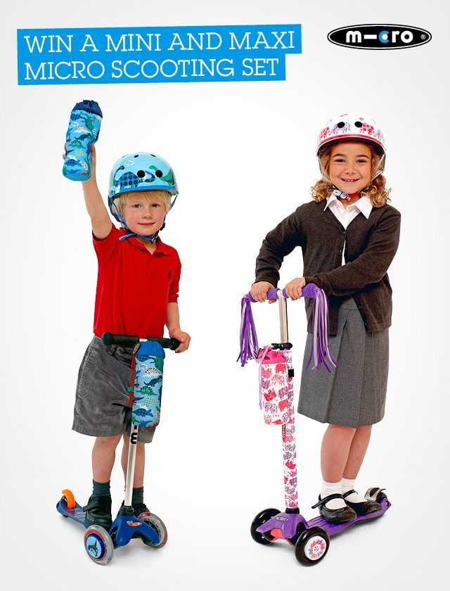 Win your chance to get a Maxi and Mini Microscooter in our summer countdown. Closes 6th August.