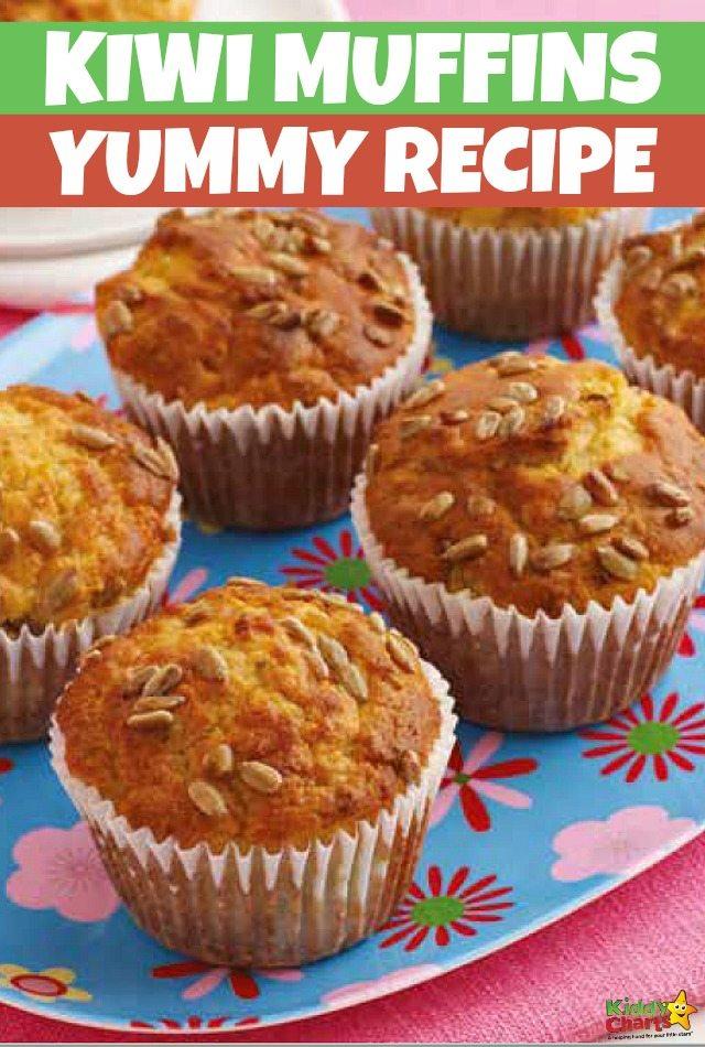 Kiwi Muffins Recipe that Kids Will Love #muffinrecipe #recipesforkids   #kiwimuffins