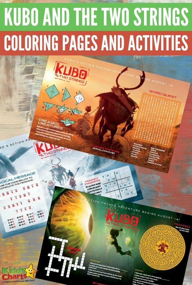 Kubo and the two strings coloring pages and activities for kids