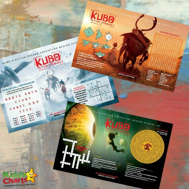 Kubo and the two strings coloring pages and activities free printable for kids