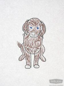 Labrador drawn with kids learn to draw