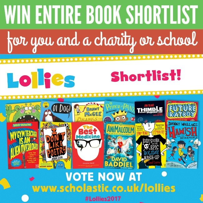 Lollies Shortlist announced AND Win the ENTIRE Funny Book Shortlist for you and a charity or school!