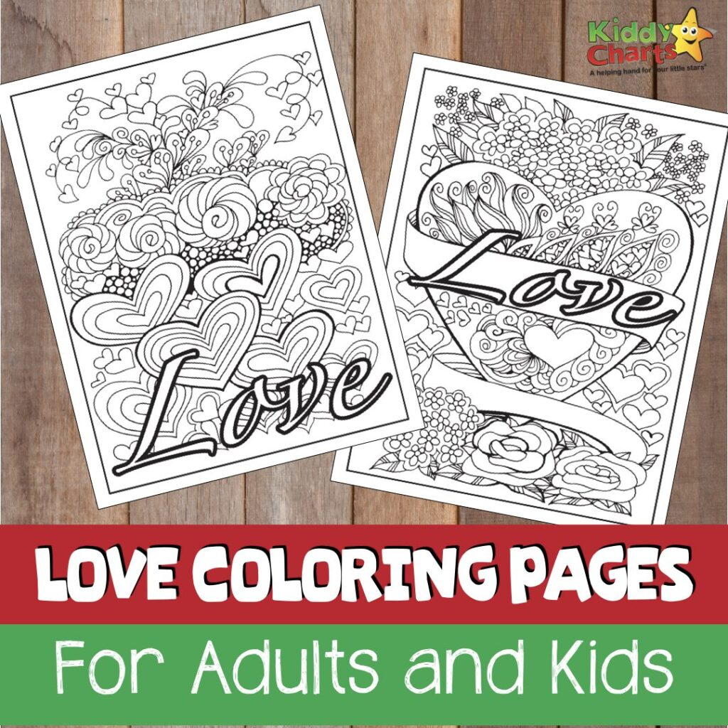 Love coloring pages for adults free printables