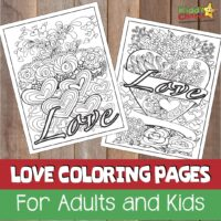 Love adult and kids coloring pages #52KindWeeks