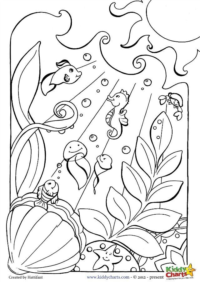 ocean coloring pages for kids and adults. Black Bedroom Furniture Sets. Home Design Ideas