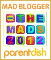 MAD Blogging Awards Finalist Badge