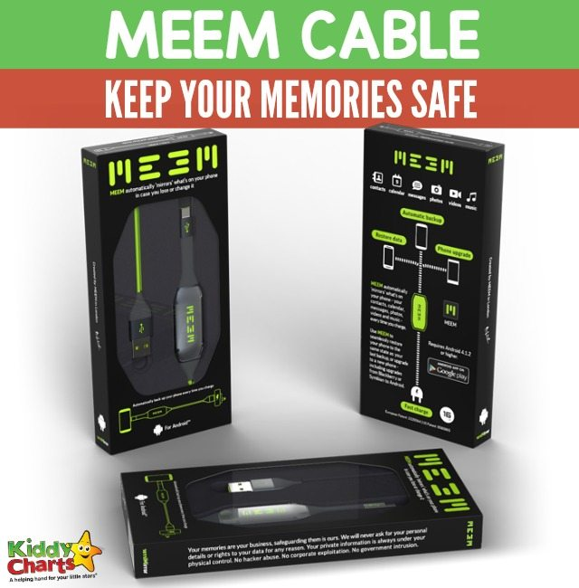 MEEM cable; the easiest way to keep your memories safe