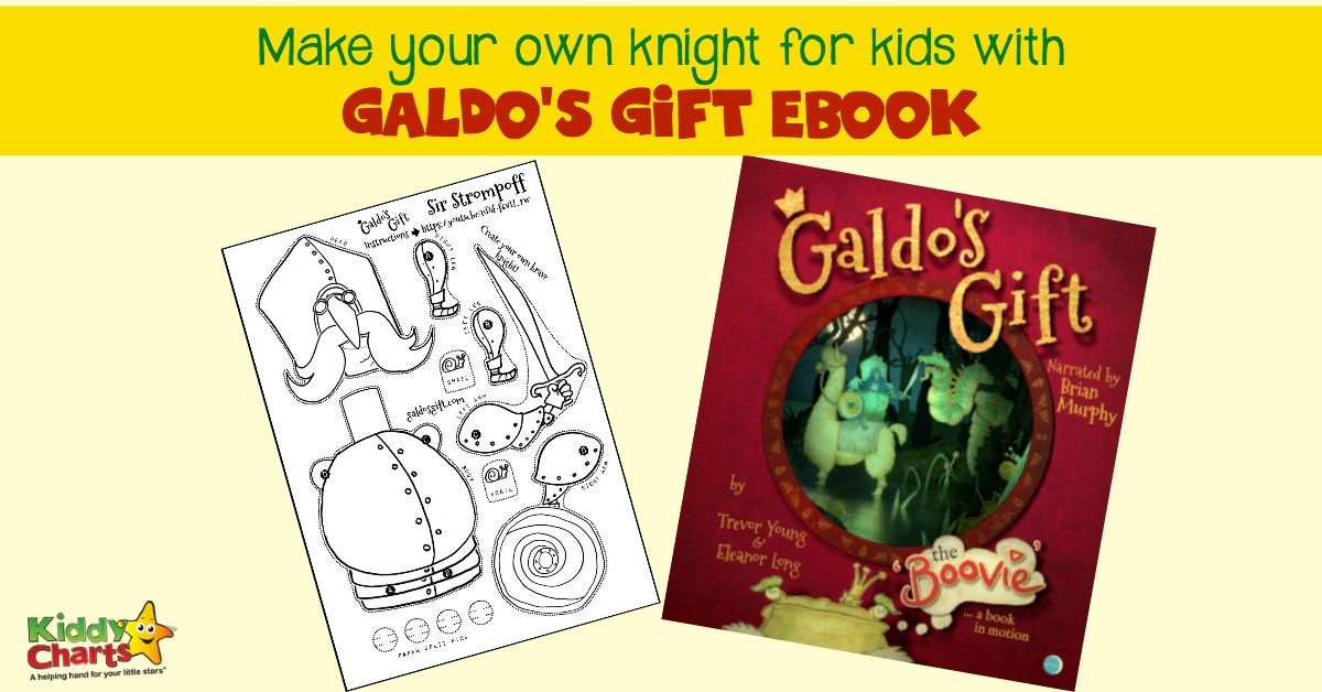 Knight for Kids is a wonderful character you can meet in Galdo's Gift ebook. Read the book and enjoy the craft: Make your own knight for kids