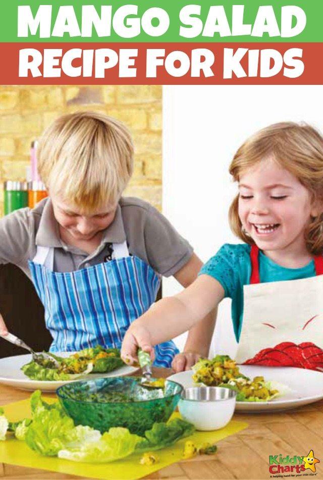 Mango Salad Recipe for Kids to Make. #recipesforkids #mangosaladrecipe #cookingrecipesforkids