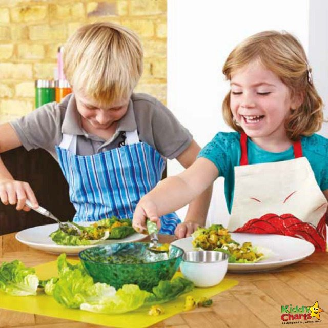 2 children making a mango salad recipe a favourite perfect for kids and family